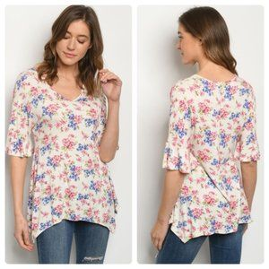 Beautiful Ivory Floral Top
